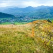 Stock Photo: Autumn mountain country landscape (Carpathian, Ukraine).