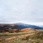 Autumn evening mountain plateau landscape — Stock Photo