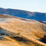 Morning autumn mountain road view. — Stock Photo #7123762