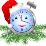 Holiday clock (vector) — Stock Vector