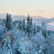 Winter sunset mountain landscape — Stock Photo