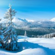 Winter mountain panorama - Stockfoto