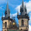 Stock Photo: The Church of Our Lady before Tyn (Prague, Czech Republic)