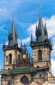 A igreja de nossa senhora antes de tyn (praga, república checa) — Fotografia Stock