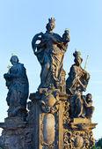 The statue on Charles Bridge (Prague, Czech Republic). — Stock Photo