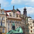 Jan Hus Memorial, Prague, Czech Republic — Stock Photo