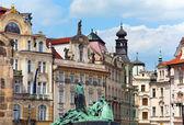 Jan Hus Memorial, Prague, Czech Republic — Stock Photo