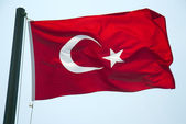 Turkish flag — 图库照片