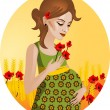 Illustration of a pregnant woman. — Stock Vector