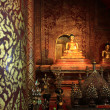Beautiful temple and buddha in Thailand : Chiangmai - Stock Photo