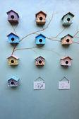 Group of bird house — Stock Photo