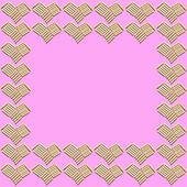 Love background : pattern of heart shape — Stock Photo