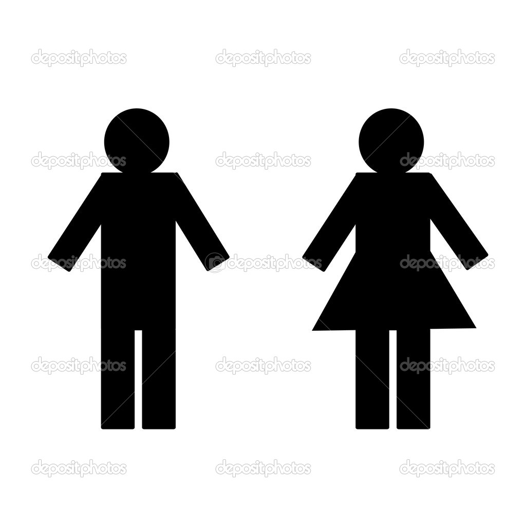 Isolate of man and girl on white background — Stock Photo #7806395
