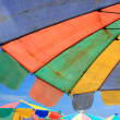 Stock Photo: Beach chair and colorful umbrellon beach , Phuket Thailand