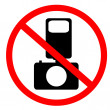 No photo and flash sign - Stock Photo