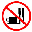 No food and drink sign — Stock Photo