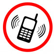 No mobile phone sign : Please use vibrate or silent mode — Stock Photo