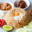 Delicious Thailand traditional food : fried rice with chili dip, pork and s — Stock Photo #7957786