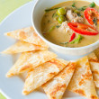 Kind of Indian food made of flour with chicken green curry : Traditional In - Stock Photo