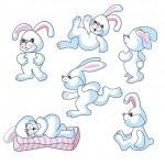 Bunny rabbits — Stock Vector #7298610