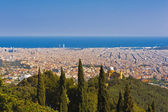 Barcelona from the Tibidabo hill — Stock Photo