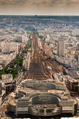 Top view of the station Montparnasse, Paris — Stock Photo