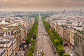 Image above the Champs Elysees in Paris — Stock Photo