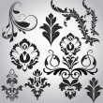 Festiv Swirl Floral Elements — Stock vektor #6753354