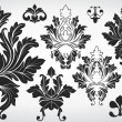 Collection Of Fancy Damask Elements — Stock Vector