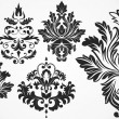 Abstract Artistic Decor Damask Elements - Stock Vector