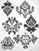 Design Of Fancy Ornate Damask Floral Illustration — Stock Vector