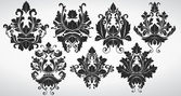 Fancy Damask Ornate Elements — Stock Vector