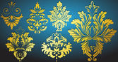 Beautiful Artistic Damask Floral Illustration — Stock Vector