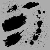 Trazos de pincel n gotas — Vector de stock