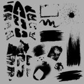 Grunge Prints n Banner Splashes — Stock Vector