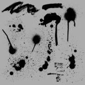 Ancient Design Of Grunge Spray n Splashes — Cтоковый вектор