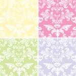 Artistic Haze Damask Floral Pattern — Stock Vector #6877203