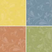 Vintage Color Floral Elements Background — Stok Vektör