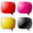 Colored Gourmet Chat Bubbles — Stock Vector