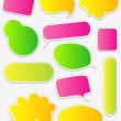 Royalty-Free Stock Vector Image: Fancy Sticky Dialogue Bubbles