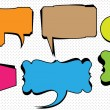 Funky Speech Bubbles On Dotted Background — Stock Vector