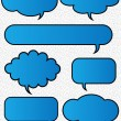 Illustration Of Funky Speech Bubbles — Stock Vector