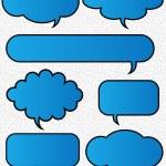 Illustration Of Funky Speech Bubbles — Stock Vector #6904614