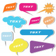 Sticky Text Bubbles — Stock Vector