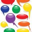Stock Vector: Colorful Speech Balloons