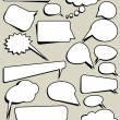 Cartoon Comic Speech Bubbles — Stock Vector