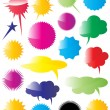 Colorful Speech Bubbles n Stickers Illustration — Stock Vector