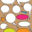Comic Vintage Speech Bubbles — Stock Vector