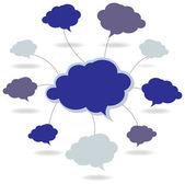 речи пузырь сети — Cтоковый вектор