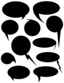 Speech Bubbles Shapes — Stock Vector